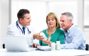 couple asking a doctor for advice