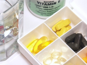 assorted vitamins in a pill-box